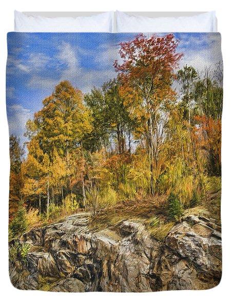 Autumn On The Rocks Duvet Cover by Jo-Anne Gazo-McKim