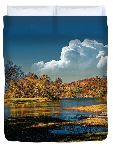 Autumn On The South Fork Duvet Cover