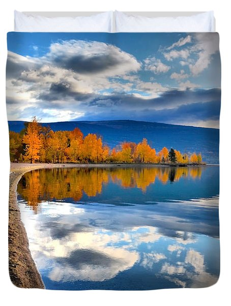 Autumn Reflections In October Duvet Cover by Tara Turner