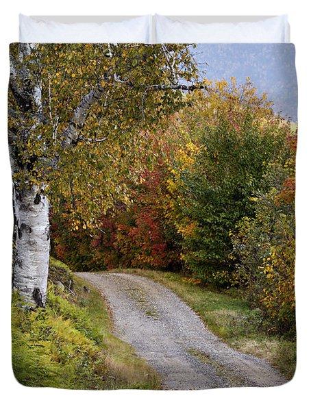 Autumn Road - D005840 Duvet Cover by Daniel Dempster