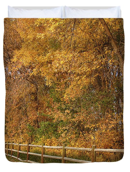 Autumn  Road To The Ranch Duvet Cover by James BO  Insogna
