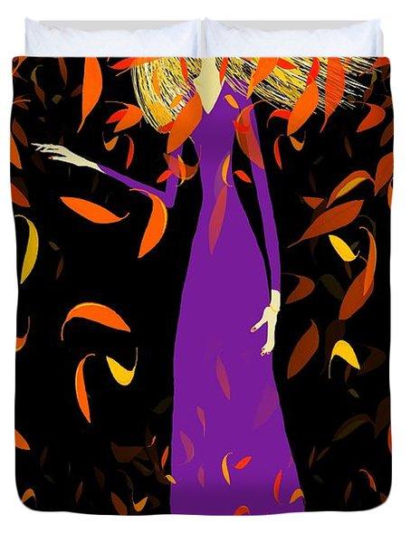 Autumn Spirit Duvet Cover by Barbara Moignard