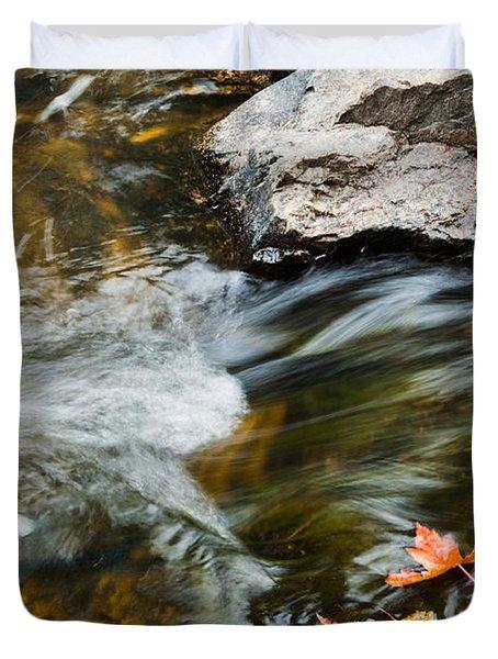 Autumn Stream Duvet Cover by Cheryl Baxter