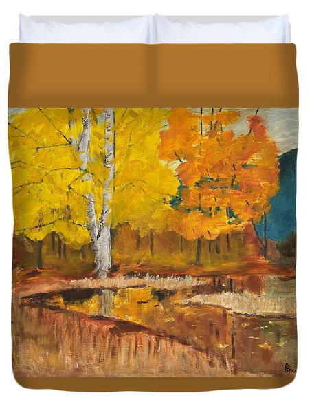 Autumn Tranquility Duvet Cover by Cynthia Morgan