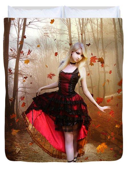 Autumn Waltz Duvet Cover by Mary Hood
