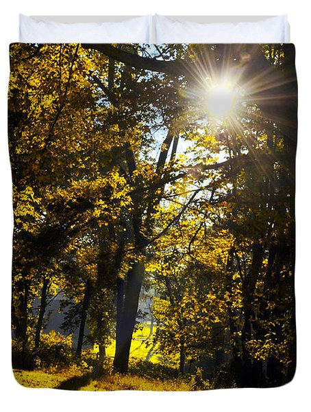 Autumnal Morning Duvet Cover by Bill Cannon