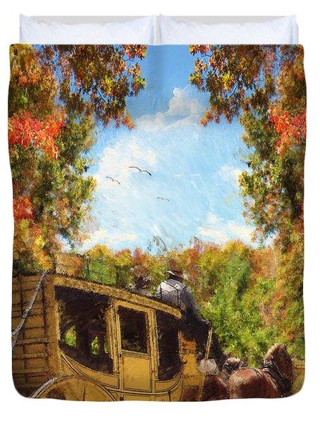 Autumn's Essence Duvet Cover by Lourry Legarde