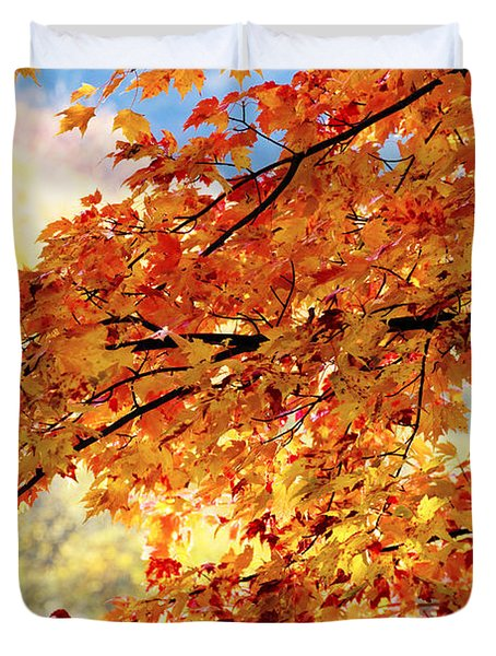 Autumns Gold Great Smoky Mountains Duvet Cover by Rich Franco