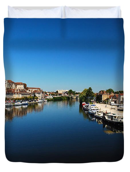 Auxerre France Duvet Cover by Hannes Cmarits