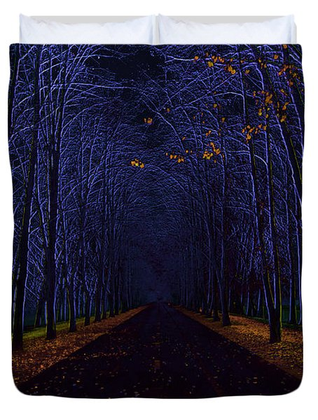 Avenue Of Trees Duvet Cover by Michal Boubin