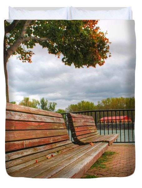 Duvet Cover featuring the photograph Awaiting by Michael Frank Jr