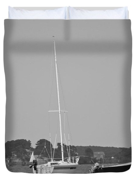 Awaiting Sail  Duvet Cover by Justin Connor