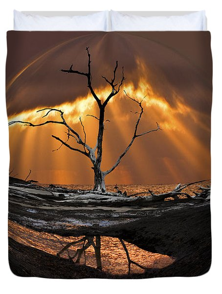 Awakening Duvet Cover by Debra and Dave Vanderlaan
