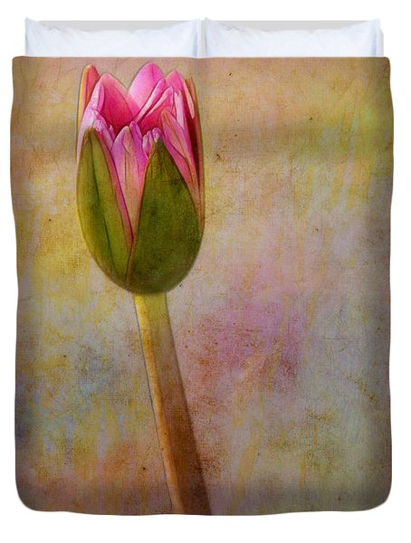 Awakening Water Lily Duvet Cover by Judi Bagwell