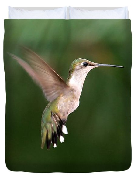 Awesome Hummingbird Duvet Cover by Sabrina L Ryan