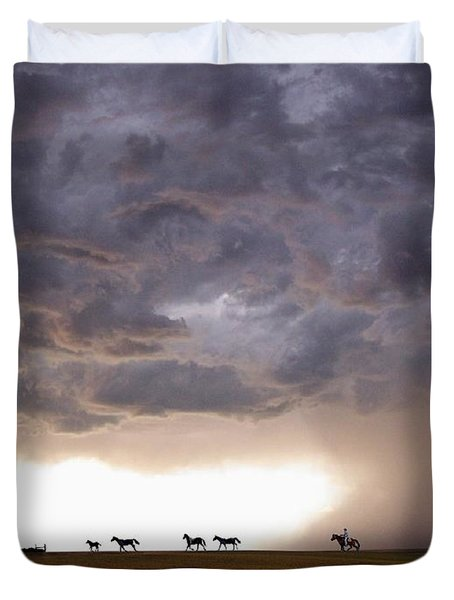 Awesome Storm Duvet Cover by Bill Stephens