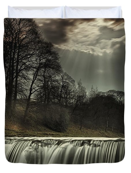Aysgarth Falls Yorkshire England Duvet Cover by John Short