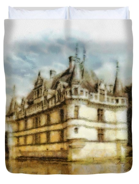 Azay Le Rideau Duvet Cover by Mo T