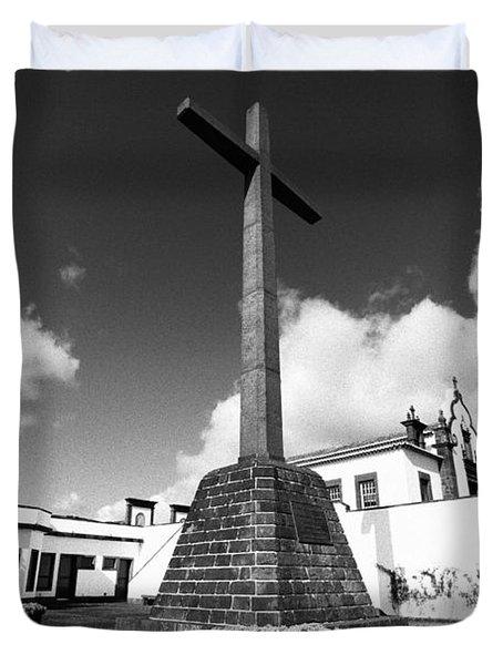 Azorean Chapel Duvet Cover by Gaspar Avila