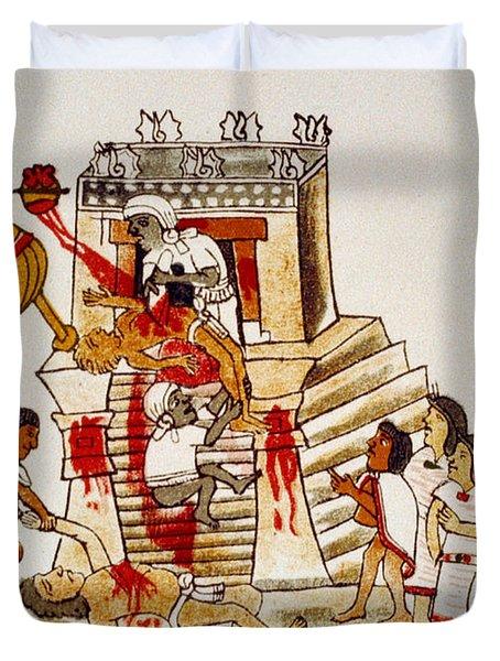 Aztec Human Sacrifice, Codex Photograph by Photo Researchers