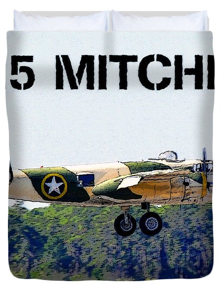 B 25 Mitchell Bomber Duvet Cover by David Lee Thompson