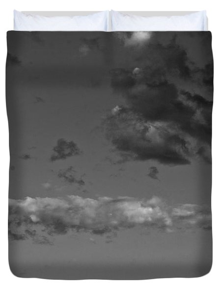 ...babel...to The Moon Duvet Cover
