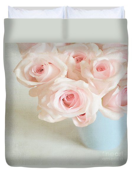 Baby Pink Roses Duvet Cover