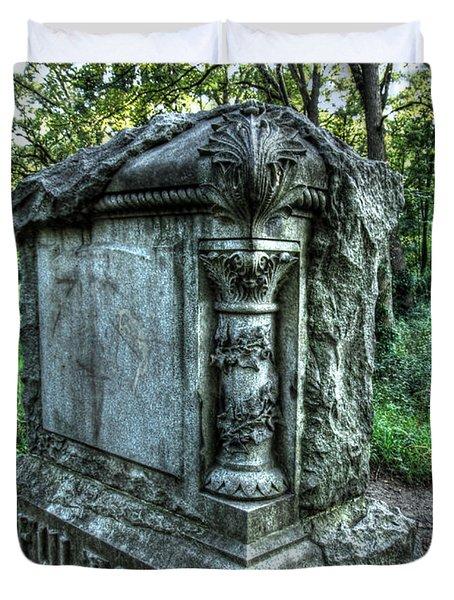 Bachelors Grove Fulton Tomb Duvet Cover by Jackie Novak