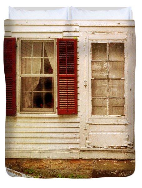 Back Door Of Old Farmhouse Duvet Cover by Jill Battaglia