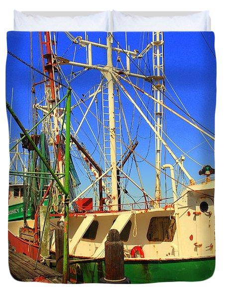 Back In The Harbor Duvet Cover by Susanne Van Hulst