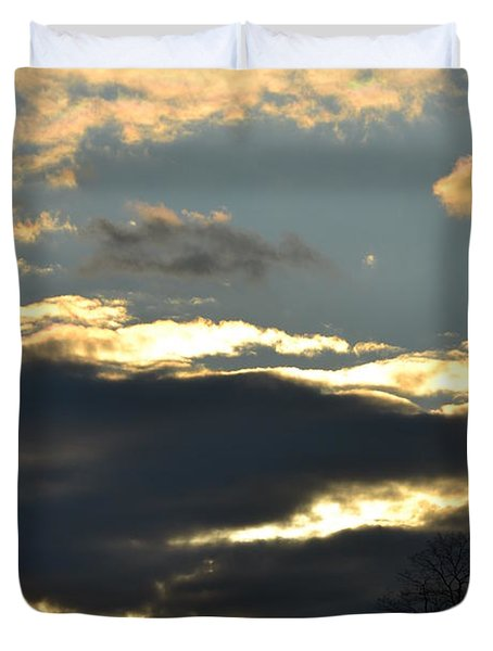Backlit Clouds Duvet Cover