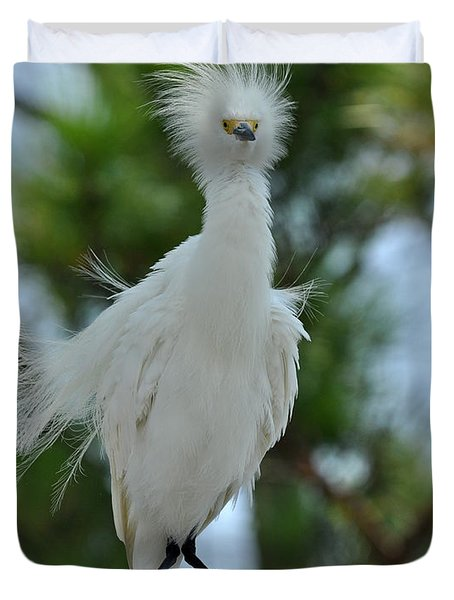 Bad Hair Day Duvet Cover by Rick Frost
