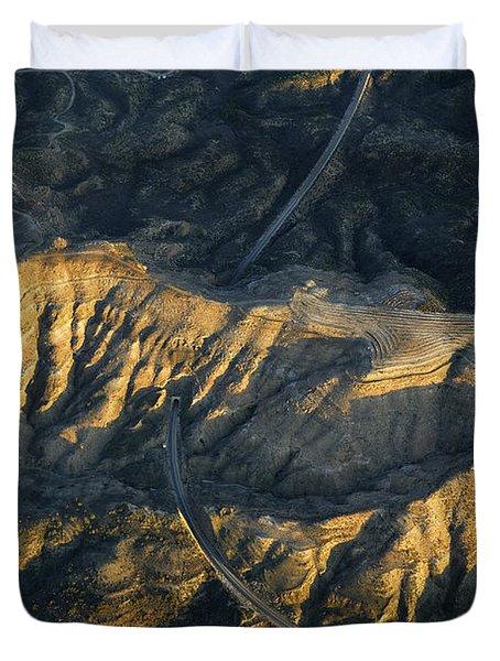 Bad Lands Granada Spain Duvet Cover by Guido Montanes Castillo
