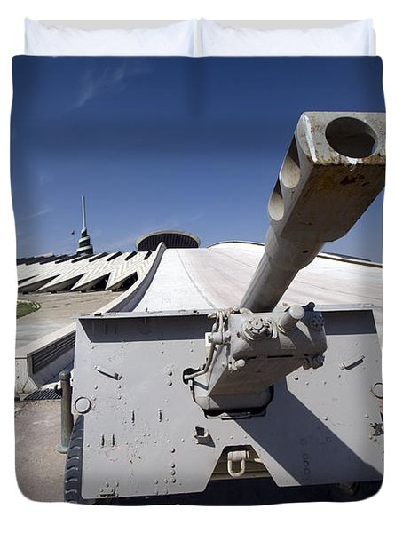 Baghdad, Iraq - An Iraqi Howitzer Sits Duvet Cover by Terry Moore