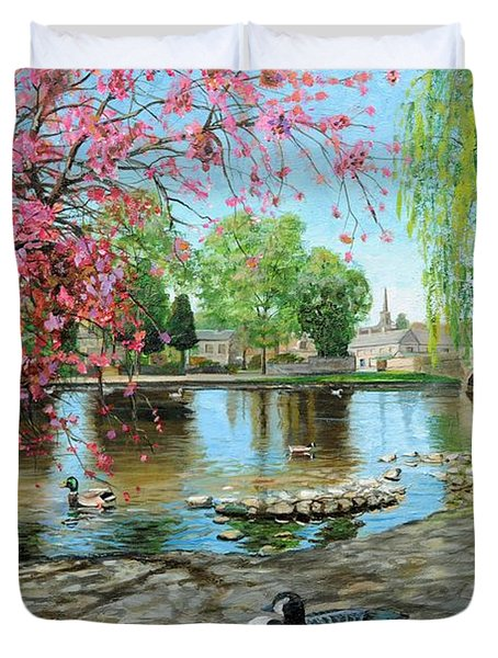 Bakewell Bridge - Derbyshire Duvet Cover by Trevor Neal