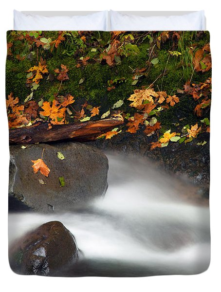 Balance Of The Seasons Duvet Cover by Mike  Dawson