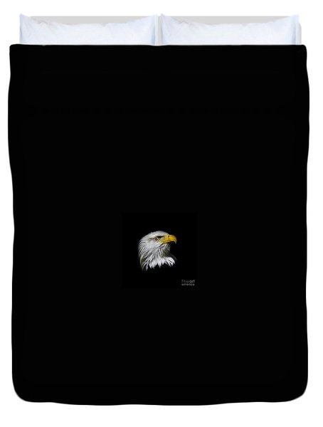 Bald Eagle Duvet Cover by Steve McKinzie