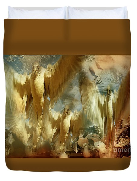 Duvet Cover featuring the photograph Balet by Danica Radman