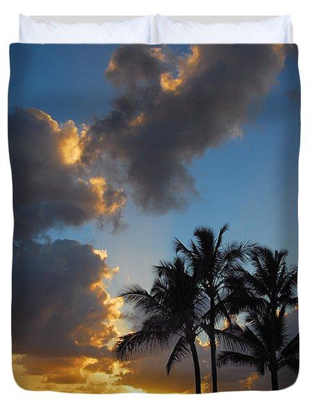 Duvet Cover featuring the photograph Bali Hai Sunset by Lynn Bauer