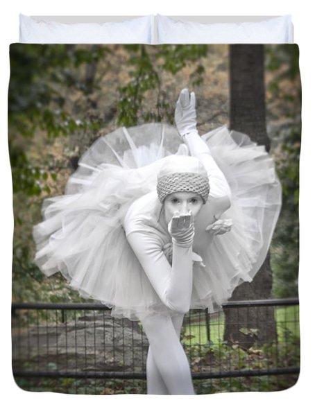 Ballerina In The Park Duvet Cover