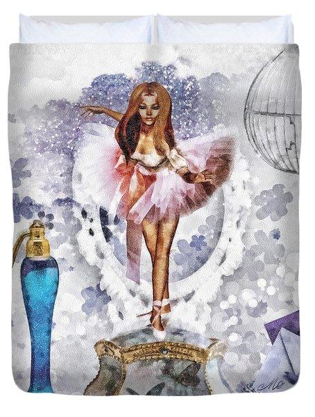 Ballerina Duvet Cover by Mo T