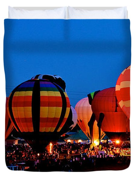 Balloon Glow Duvet Cover by Mark Dodd