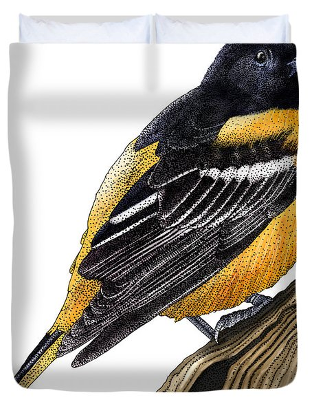 Baltimore Oriole Duvet Cover by Roger Hall and Photo Researchers