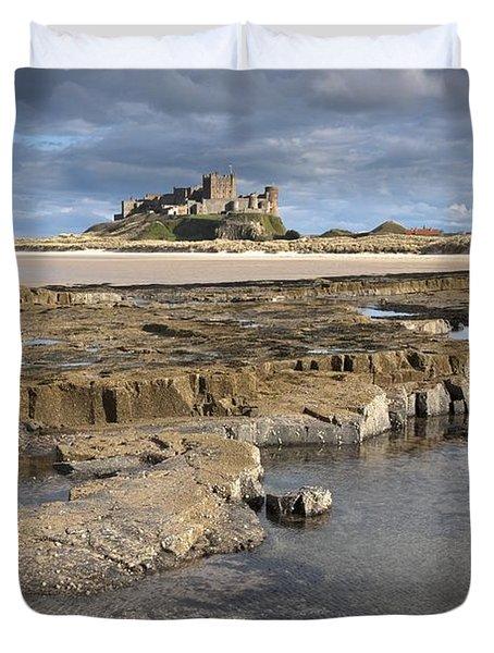 Bamburgh, Northumberland, England Duvet Cover by John Short