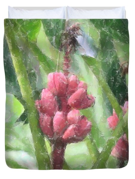Duvet Cover featuring the photograph Banana Plant by Donna  Smith