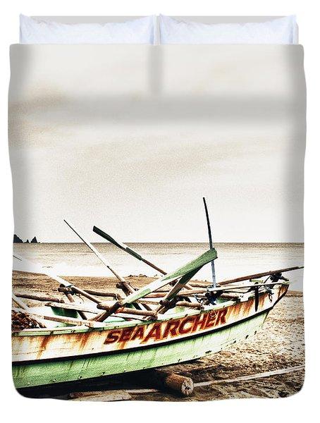 Banca Boat Duvet Cover by Skip Nall