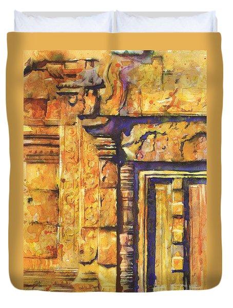 Banteay Srei Doorway Duvet Cover by Ryan Fox