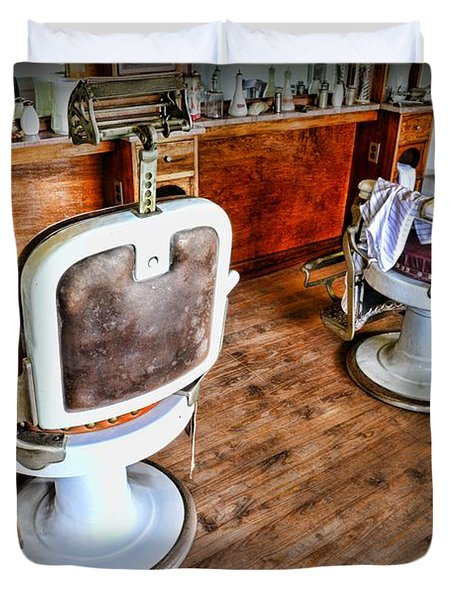 Barber - The Barber Shop 2 Duvet Cover by Paul Ward