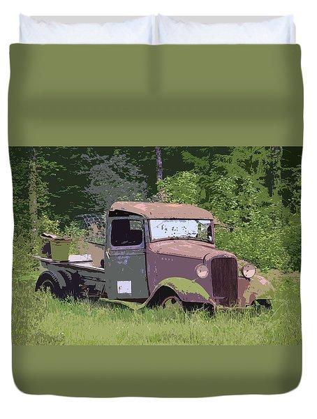Barn Fresh Pickup Duvet Cover by Steve McKinzie
