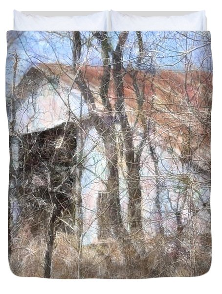 Barn Through Trees Duvet Cover by Donna G Smith